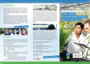 Global Change Broschüre - JLU UCD
